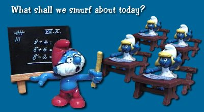 What shall we smurf about today?