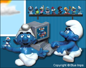 Enter Blue Imps Smurf Collection