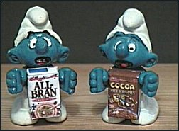 All Bran Smurf & Cocoa Pops Smurf