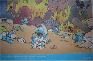 UNICEF Advert Featuring The Smurfs